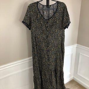 Suzanne Betro Womens Maxi Dress 2X Flower Print